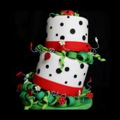Topsy Turvey Ladybug Cake