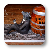 Howling Wolf and Whiskey Barrel Groom's Cake