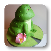 Frog on Lillypad Cake