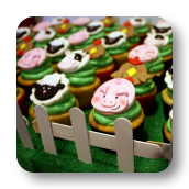 Barnyard Cupcake Toppers!