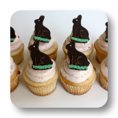 Chocolate Easter Bunny Cupcake Toppers