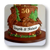 German Themed Cuckoo Clock Cake ~ 50th Wedding Anniversary