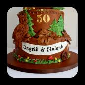 German Themed Cuckoo Clock Cake ~ 50th Wedding Anniversary