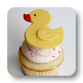 Rubber Ducky Cupcake Toppers