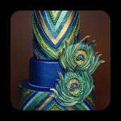 Posh Peacock Cake