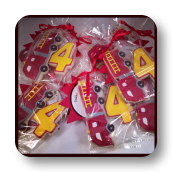 Fireman Cookie Favors for a 4th Birthday Party!