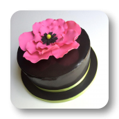 Tropical Flower Birthday Cake