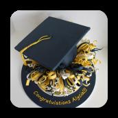 Topsy Turvy Graduation Cake~ Del Val 2013