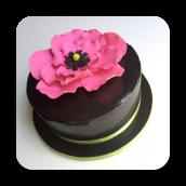 Tropical Flower Birthday Cake