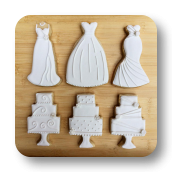 Wedding Gowns & Wedding Cake Cookies