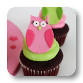 Owl Themed Birthday Cupcakes