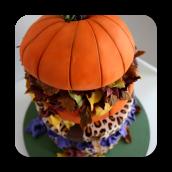 Topsy Turvy Leopard Print Autumn Cake!
