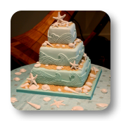 Ocean Waves & Sea Shell Cake