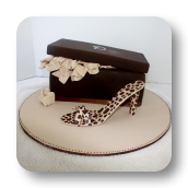 Leopard Print Stiletto & Shoe Box Cake