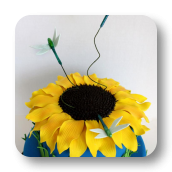 Sunflower and Dragonflies Cake