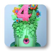 Enchanted Troll Forest Cake