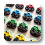 Edible Monster Truck Cupcake Toppers