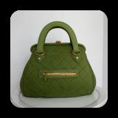 Green Hand Bag Cake